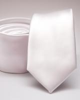 Slim egyszínű poliészer nyakkendő 04